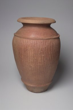 Etruscan. <em>Pithos</em>, 7th century B.C.E. Clay, slip, 27 9/16 × Diam. 17 3/8 in. (70 × 44.2 cm). Brooklyn Museum, Gift of Robin F. Beningson, 88.202.6. Creative Commons-BY (Photo: Brooklyn Museum, 88.202.6.jpg)