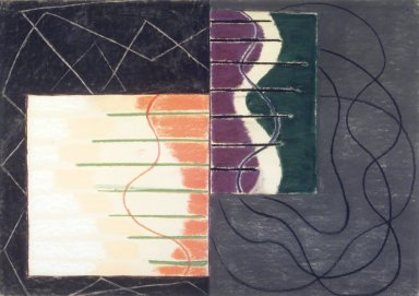 Susan Crile (American, born 1942). <em>Connections</em>, 1987. Pastel and charcoal on paper, framed: 31 3/4 x 43 in. (80.6 x 109.2 cm). Brooklyn Museum, Carll H. de Silver Fund, 88.38. © artist or artist's estate (Photo: Brooklyn Museum, 88.38.jpg)