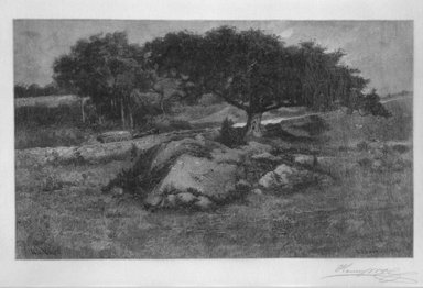Henry Wolf (American, born France, 1852-1916). <em>Canadian Pastoral</em>, 1902. Wood engraving on fine tissue paper, 4 15/16 x 6 3/4 in. (12.5 x 17.1 cm). Brooklyn Museum, Purchased with funds given by Mr. and Mrs. Leonard L. Milberg, 88.50.8 (Photo: Brooklyn Museum, 88.50.8_bw.jpg)