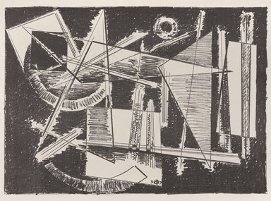 Werner Drewes (American, born Germany, 1899-1984). <em>[Untitled]</em>, 1937. Off-set lithograph on off-white wove paper, sheet: 11 15/16 x 9 3/16 in. (30.4 x 23.3 cm). Brooklyn Museum, Purchased with funds given by an anonymous donor, 88.54.7. © artist or artist's estate (Photo: Brooklyn Museum, 88.54.7_PS9.jpg)