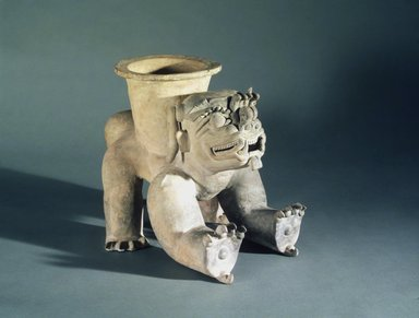 Jama Coaque. <em>Effigy Vessel</em>, ca. 300 B.C.E.-600 C.E. Ceramic, 12 3/4 x 16 1/4 x 13 in. (32.4 x 41.3 x 33 cm). Brooklyn Museum, Gift of Mr. and Mrs. Tessim Zorach, 88.57.2. Creative Commons-BY (Photo: Brooklyn Museum, 88.57.2.jpg)