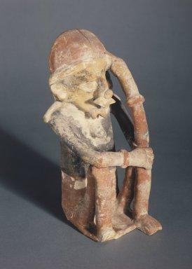Bahía. <em>Figure</em>, 1st-5th century C.E. Ceramic, pigment, 10 1/2 x 5 1/8 x 4 3/4 in. (26.7 x 13 x 12.1 cm). Brooklyn Museum, Gift of Mr. and Mrs. Tessim Zorach, 88.57.3. Creative Commons-BY (Photo: Brooklyn Museum, 88.57.3.jpg)