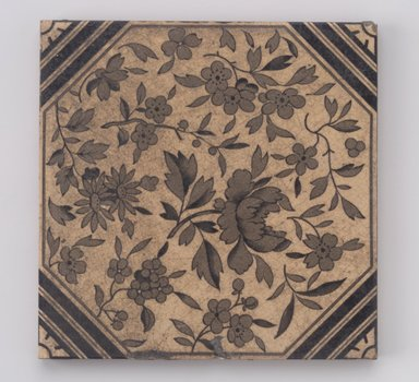 International Tile Company. <em>Tile</em>, 1882-1888. Earthenware, 1/2 x 6 x 6 in. (1.3 x 15.2 x 15.2 cm). Brooklyn Museum, Gift of Diana M. Sawney and Lorraine Gordon, 88.64. Creative Commons-BY (Photo: Brooklyn Museum, 88.64.jpg)