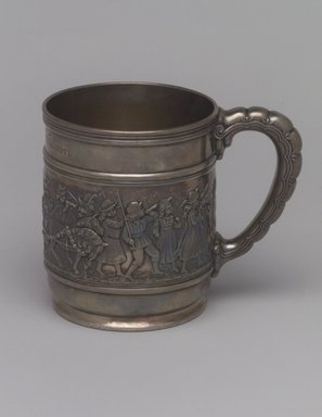 Tiffany & Company (American, founded 1853). <em>Mug (Christening Cup)</em>, ca. 1907. Silver, 3 1/2 x 4 1/2 x 3 in. (8.9 x 11.4 x 7.6 cm). Brooklyn Museum, Gift of Helen Wilson, 88.65.6. Creative Commons-BY (Photo: Brooklyn Museum, 88.65.6.jpg)