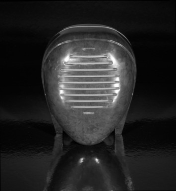 Isamu Noguchi (American, 1904-1988). <em>Radio Nurse</em>, Designed in 1937. ca. 1938. Bakelite plastic, 8 x 6 1/2 x 6 in. (20.3 x 16.5 x 15.2 cm). Brooklyn Museum, Designated Purchase Fund, 88.67. Creative Commons-BY (Photo: Brooklyn Museum, 88.67_view1_bw.jpg)