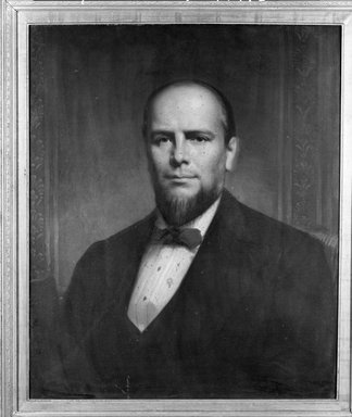 Ferdinand Thomas Lee Boyle (American, 1820-1906). <em>William Everdell, Jr.</em>, 1875. Oil on canvas, 29 15/16 x 24 15/16 in. (76.1 x 63.4 cm). Brooklyn Museum, Transferred from the Brooklyn Institute of Arts and Sciences to the Brooklyn Museum, 97.6 (Photo: Brooklyn Museum, 97.6_bw_SL4.jpg)