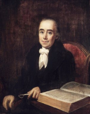 William Dunlap (American, 1766-1839). <em>Robert Snow</em>, 1831. Oil on panel, 33 9/16 x 26 11/16 in. (85.2 x 67.8 cm). Brooklyn Museum, Transferred from the Brooklyn Institute of Arts and Sciences to the Brooklyn Museum, 97.9 (Photo: Brooklyn Museum, 97.9_transp3294.jpg)
