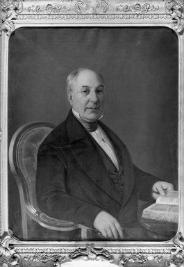 Charles Christian Heinrich Nahl (American, 1818-1878). <em>John Graham</em>, 1851. Oil on canvas, 35 7/8 x 28 7/8 in. (91.2 x 73.4 cm). Brooklyn Museum, Gift of James A. H. Bell, 98.2 (Photo: Brooklyn Museum, 98.2_acetate_bw.jpg)