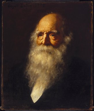 Wyatt Eaton (American, 1849-1896). <em>William Cullen Bryant</em>, 1878. Oil on canvas, 24 1/8 x 20 3/16 in. (61.2 x 51.2 cm). Brooklyn Museum, Gift of William T. Evans, 99.1 (Photo: Brooklyn Museum, 99.1_SL1.jpg)
