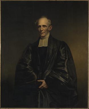 James Frothingham (American, 1786-1864). <em>Reverend Dr. Cutler</em>, ca. 1860. Oil on canvas, 56 1/8 x 43 7/8 in. (142.5 x 111.5 cm). Brooklyn Museum, Gift of Charles N. Peed, 99.4 (Photo: Brooklyn Museum, 99.4_PS11.jpg)