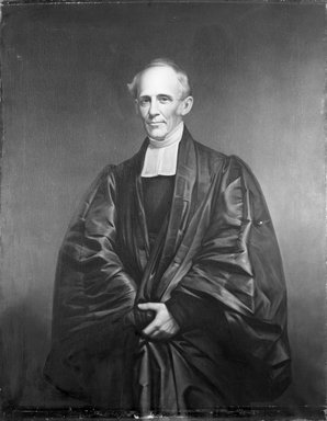 James Frothingham (American, 1786-1864). <em>Reverend Dr. Cutler</em>, ca. 1860. Oil on canvas, 56 1/8 x 43 7/8 in. (142.5 x 111.5 cm). Brooklyn Museum, Gift of Charles N. Peed, 99.4 (Photo: Brooklyn Museum, 99.4_acetate_bw.jpg)
