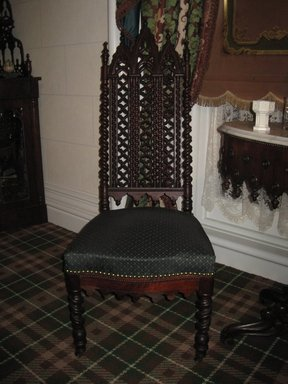 <em>Side Chair</em>, ca. 1855. Mahogany, 45 1/2 x 18 1/2 x 23 3/4 in. (115.6 x 47.0 x 60.7 cm). Brooklyn Museum, Gift of Wunsch Americana Foundation, Inc., 1996.144.2. Creative Commons-BY (Photo: Brooklyn Museum, COLL.1996.144.2.jpg)