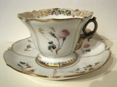 <em>Cup and Saucer</em>. Bone China Brooklyn Museum, Gift of Judge Townsend Scudder, 51.159.93a-b. Creative Commons-BY (Photo: Brooklyn Museum, COLL.51.159.93a-b.jpg)