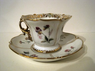 <em>Cup and Saucer</em>. Bone China Brooklyn Museum, Gift of Judge Townsend Scudder, 51.159.94a-b. Creative Commons-BY (Photo: Brooklyn Museum, COLL.51.159.94a-b.jpg)