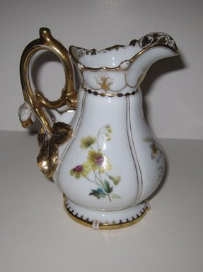 <em>Creamer</em>. Bone China Brooklyn Museum, Gift of Judge Townsend Scudder, 51.159.95. Creative Commons-BY (Photo: Brooklyn Museum, COLL.51.159.95.jpg)