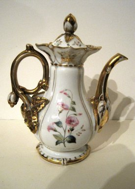 <em>Coffee Pot with Top</em>. Bone China Brooklyn Museum, Gift of Judge Townsend Scudder, 51.159.96a-b. Creative Commons-BY (Photo: Brooklyn Museum, COLL.51.159.96a-b.jpg)