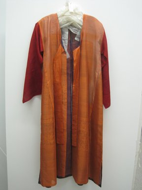 Korean. <em>Man's Military Outer-Blouse (Dongdari)</em>, 19th-20th century. Satin, 56 11/16 x 28 3/8 x 17 5/8 in. (144 x 72 x 44.7 cm). Brooklyn Museum, Brooklyn Museum Collection, X1146. Creative Commons-BY (Photo: Brooklyn Museum, COLL.X1146_front.jpg)