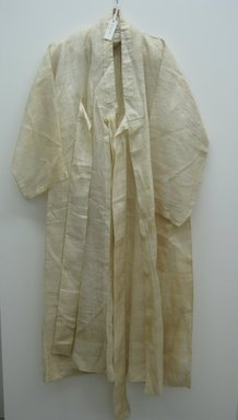 Korean. <em>Overcoat (Durumagi)</em>, early 20th century. Ramie, 51 3/16 x 30 1/8 in. (130 x 76.5 cm). Brooklyn Museum, Brooklyn Museum Collection, X1148. Creative Commons-BY (Photo: Brooklyn Museum, COLL.X1148_front.jpg)