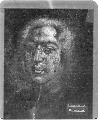 Vittore Ghislandi, called Fra' Galgario (Italian, 1655-1743). <em>Portrait of a Man</em>, n.d. Oil on canvas, 24 x 13 in. (61 x 33 cm). Brooklyn Museum, Museum Collection Fund , 11.557 (Photo: Brooklyn Museum, CONS.11.557_1958_xrs.jpg)