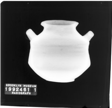 <em>Pyxis Imitating Mycenaean Ware</em>. Clay, slip, 4 13/16 in. (12.2 cm). Brooklyn Museum, Gift of Harvey A. Herbert, 1992.46.1. Creative Commons-BY (Photo: Brooklyn Museum, CONS.1992.46.1_1998_xrs_detail01.jpg)