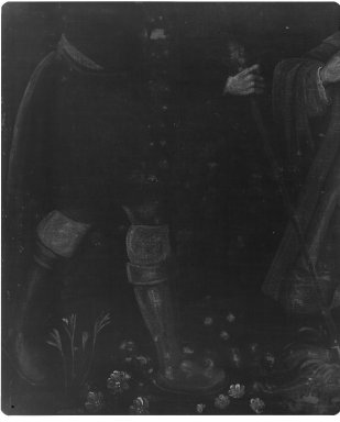 Unknown. <em>Saint Isidore the Farmer</em>, ca. 1750. Oil on canvas, 31 1/8 x 24 1/4in. (79.1 x 61.6cm). Brooklyn Museum, Museum Expedition 1941, Frank L. Babbott Fund, 41.1275.189 (Photo: Brooklyn Museum, CONS.41.1275.189_+xrs_detail01.jpg)
