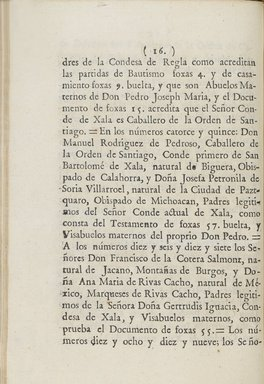<em>Testimonies of the Legitimacy, Purity of Blood, and Nobility of the Counts of Regla</em>, 1803. Bound volume, 8 3/16 in. (20.8 cm). Brooklyn Museum, Museum Collection Fund and Dick S. Ramsay Fund, 52.166.72 (Photo: , CS109_T28_p016_52.166.72_PS6.jpg)