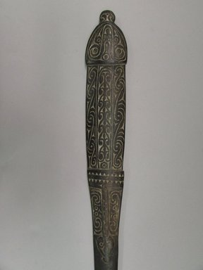 <em>Lime Spatula (Kena)</em>. Wood, lime, 2 11/16 x 28 3/8 in. (6.8 x 72 cm). Brooklyn Museum, Brooklyn Museum Collection, 00.107. Creative Commons-BY (Photo: Brooklyn Museum, CUR.00.107_detail.jpg)