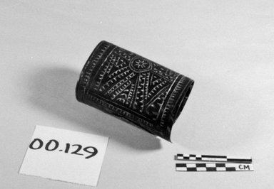 <em>Wristband</em>. Tortoise shell, pigment Brooklyn Museum, Brooklyn Museum Collection, 00.129. Creative Commons-BY (Photo: Brooklyn Museum, CUR.00.129_bw.jpg)