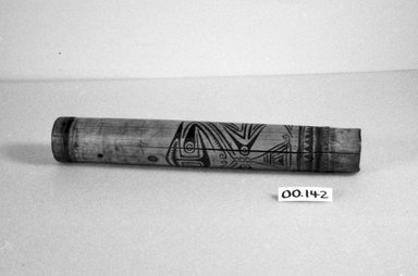 <em>Pipe</em>. Bamboo, pigment, 2 3/4 x 18 1/2 in. (7 x 47 cm). Brooklyn Museum, Brooklyn Museum Collection, 00.142. Creative Commons-BY (Photo: Brooklyn Museum, CUR.00.142_bw.jpg)