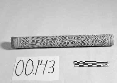 <em>Bamboo Tube</em>. Wood, pigment, 1 3/16 × 10 in. (3 × 25.4 cm). Brooklyn Museum, Brooklyn Museum Collection, 00.143. Creative Commons-BY (Photo: Brooklyn Museum, CUR.00.143_bw.jpg)