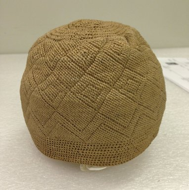 Kongo. <em>Cap</em>, 19th century. Vegetal fiber, pineapple fiber (?) (2 ply, 2 twist), height: 4 in.  (10.2 cm);. Brooklyn Museum, Brooklyn Museum Collection, 00.78. Creative Commons-BY (Photo: Brooklyn Museum, CUR.00.78_overall.jpg)