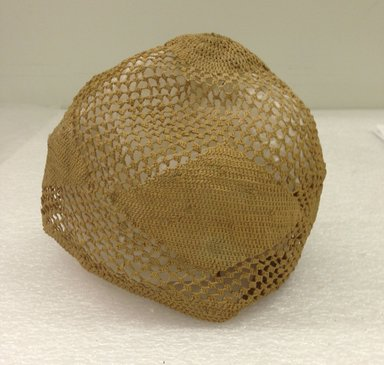 Kongo. <em>Cap</em>, 19th century. Raffia, basketry, 6 x 5 in.  (15.2 x 12.7 cm). Brooklyn Museum, Brooklyn Museum Collection, 00.79. Creative Commons-BY (Photo: Brooklyn Museum, CUR.00.79_side.jpg)