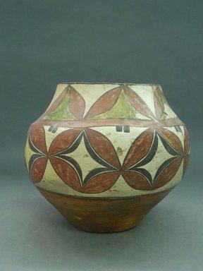 Haak'u (Acoma Pueblo). <em>Jar</em>. Clay, slip, 9 1/2 x 9 1/2 x 10in. (24.1 x 24.1 x 25.4cm). Brooklyn Museum, By exchange, 01.1535.2175. Creative Commons-BY (Photo: Brooklyn Museum, CUR.01.1535.2175.jpg)