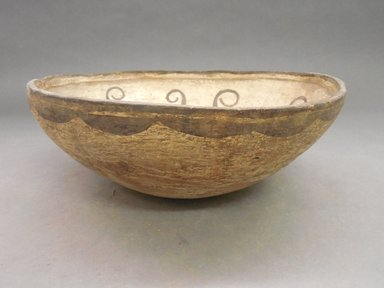 She-we-na (Zuni Pueblo). <em>Decorated Bowl</em>. Clay, slip, 3 3/4 x 10 1/2 in (9.5 x 26.7 cm). Brooklyn Museum, By exchange, 01.1535.2187. Creative Commons-BY (Photo: Brooklyn Museum, CUR.01.1535.2187_view1.jpg)