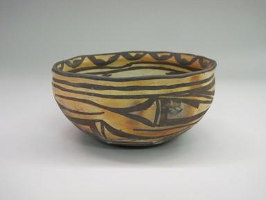 Hopi Pueblo. <em>Bowl</em>. Clay, slip, 3 3/8 × 6 1/2 × 6 3/8 in. (8.6 × 16.5 × 16.2 cm). Brooklyn Museum, By exchange, 01.1535.2199. Creative Commons-BY (Photo: Brooklyn Museum, CUR.01.1535.2199_exterior.jpg)