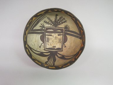 Hopi Pueblo. <em>Bowl</em>. Clay, slip, 3 3/8 × 6 1/2 × 6 3/8 in. (8.6 × 16.5 × 16.2 cm). Brooklyn Museum, By exchange, 01.1535.2199. Creative Commons-BY (Photo: , CUR.01.1535.2199_interior.jpg)