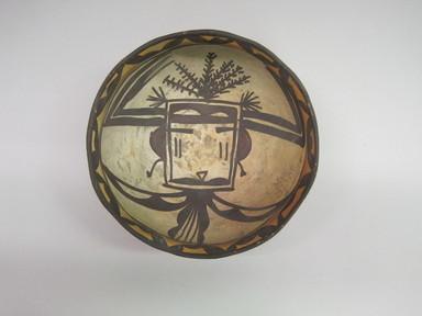 Hopi Pueblo. <em>Bowl</em>. Clay, slip, 3 3/8 × 6 1/2 × 6 3/8 in. (8.6 × 16.5 × 16.2 cm). Brooklyn Museum, By exchange, 01.1535.2199. Creative Commons-BY (Photo: , CUR.01.1535.2199_interior.jpg)