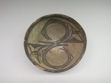 Hopi Pueblo. <em>Bowl</em>, late 19th century. Clay, slip, 4 1/8 × 8 3/16 × 8 in. (10.5 × 20.8 × 20.3 cm). Brooklyn Museum, By exchange, 01.1535.2200. Creative Commons-BY (Photo: , CUR.01.1535.2200_interior.jpg)