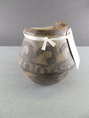 Possibly Ancient Pueblo (Anasazi). <em>Pitcher</em>. Clay, slip, 5 7/8 x 6 5/16 in. (15.0 x 16.0 cm). Brooklyn Museum, Gift of Charles A. Schieren, 01.1538.1734. Creative Commons-BY (Photo: Brooklyn Museum, CUR.01.1538.1734.jpg)