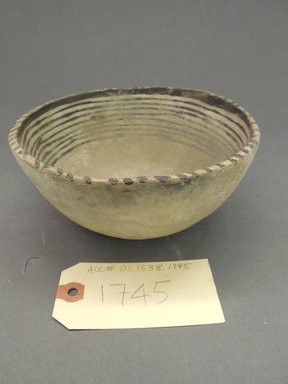 Ancient Pueblo (Anasazi). <em>Bowl</em>. Clay, slip, pigment, 3 3/8 x 6 5/8 in.  (8.5 x 16.75 cm). Brooklyn Museum, Gift of Charles A. Schieren, 01.1538.1745. Creative Commons-BY (Photo: Brooklyn Museum, CUR.01.1538.1745.jpg)
