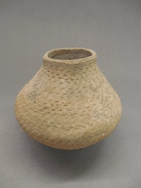 Ancient Pueblo (Anasazi). <em>Coiled Jar</em>. Clay, slip, 5 3/4 x 6 3/8 in. (14.6 x 16.2 cm). Brooklyn Museum, Gift of Charles A. Schieren, 01.1538.1766. Creative Commons-BY (Photo: Brooklyn Museum, CUR.01.1538.1766.jpg)