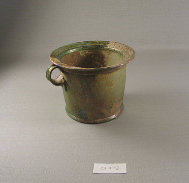 Roman. <em>Cup</em>, 1st century C.E. Glass, 4 1/8 x greatest diam. 5 1/2 in. (10.5 x 14 cm). Brooklyn Museum, Gift of Robert B. Woodward, 01.443. Creative Commons-BY (Photo: Brooklyn Museum, CUR.01.443.jpg)