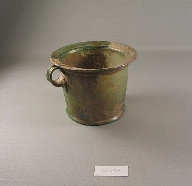 Roman. <em>Cup</em>, 1st century C.E. Glass, 4 1/8 x greatest diam. 5 1/2 in. (10.5 x 14 cm). Brooklyn Museum, Gift of Robert B. Woodward, 01.443. Creative Commons-BY (Photo: Brooklyn Museum, CUR.01.443.jpg)