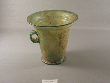 Roman. <em>Cup</em>, 1st century C.E. Glass, 5 7/8 x greatest diam. 6 7/16 in. (15 x 16.3 cm). Brooklyn Museum, Gift of Robert B. Woodward, 01.444. Creative Commons-BY (Photo: Brooklyn Museum, CUR.01.444_view1.jpg)