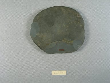 <em>Palette</em>, ca. 4400-3100 B.C.E. Slate, 4 5/16 × 5 × 11/16 in. (11 × 12.7 × 1.7 cm). Brooklyn Museum, Gift of the Egypt Exploration Fund, 02.239. Creative Commons-BY (Photo: , CUR.02.239_view01.jpg)