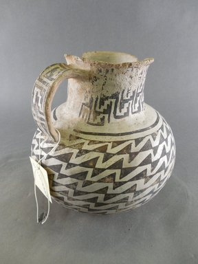 Ancient Pueblo (Anasazi). <em>Pitcher</em>. Clay, slip, 7 1/2 x 7 1/4 in. (19.1 x 18.4 cm). Brooklyn Museum, Gift of Charles A. Schieren, 02.256.2264. Creative Commons-BY (Photo: Brooklyn Museum, CUR.02.256.2264_view1.jpg)