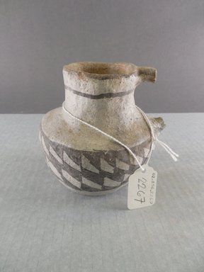 Ancient Pueblo (Anasazi). <em>Pitcher</em>. Clay, slip, 4 1/4 x 4 1/8 in. (10.8 x 10.5 cm). Brooklyn Museum, Gift of Charles A. Schieren, 02.256.2267. Creative Commons-BY (Photo: Brooklyn Museum, CUR.02.256.2267.jpg)