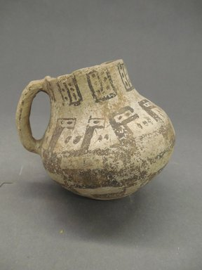 Possibly Mimbres. <em>Black on White Pitcher</em>. Clay, 4 x 4 in. (10.2 x 10.2 cm). Brooklyn Museum, Gift of Charles A. Schieren, 02.256.2272.1. Creative Commons-BY (Photo: Brooklyn Museum, CUR.02.256.2272.1.jpg)