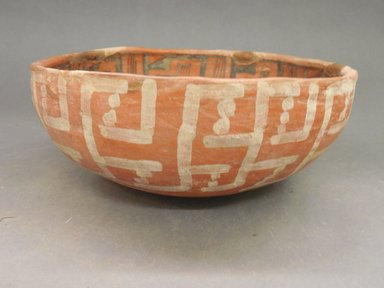 Ancient Pueblo (Anasazi). <em>Bowl</em>. Clay, slip, pigment, 8.5 x 3.5 in. (9 x 12 cm). Brooklyn Museum, Gift of Charles A. Schieren, 02.256.2272.2. Creative Commons-BY (Photo: Brooklyn Museum, CUR.02.256.2272.2_view1.jpg)