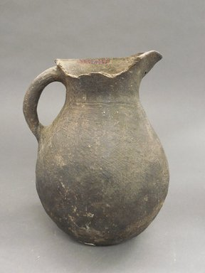 Possibly Ancient Pueblo (Anasazi). <em>Pitcher</em>. Clay, slip, 8 1/4 x 5 1/2 in (21 x 14 cm). Brooklyn Museum, Riggs Pueblo Pottery Fund, 02.257.2295. Creative Commons-BY (Photo: Brooklyn Museum, CUR.02.257.2295.jpg)